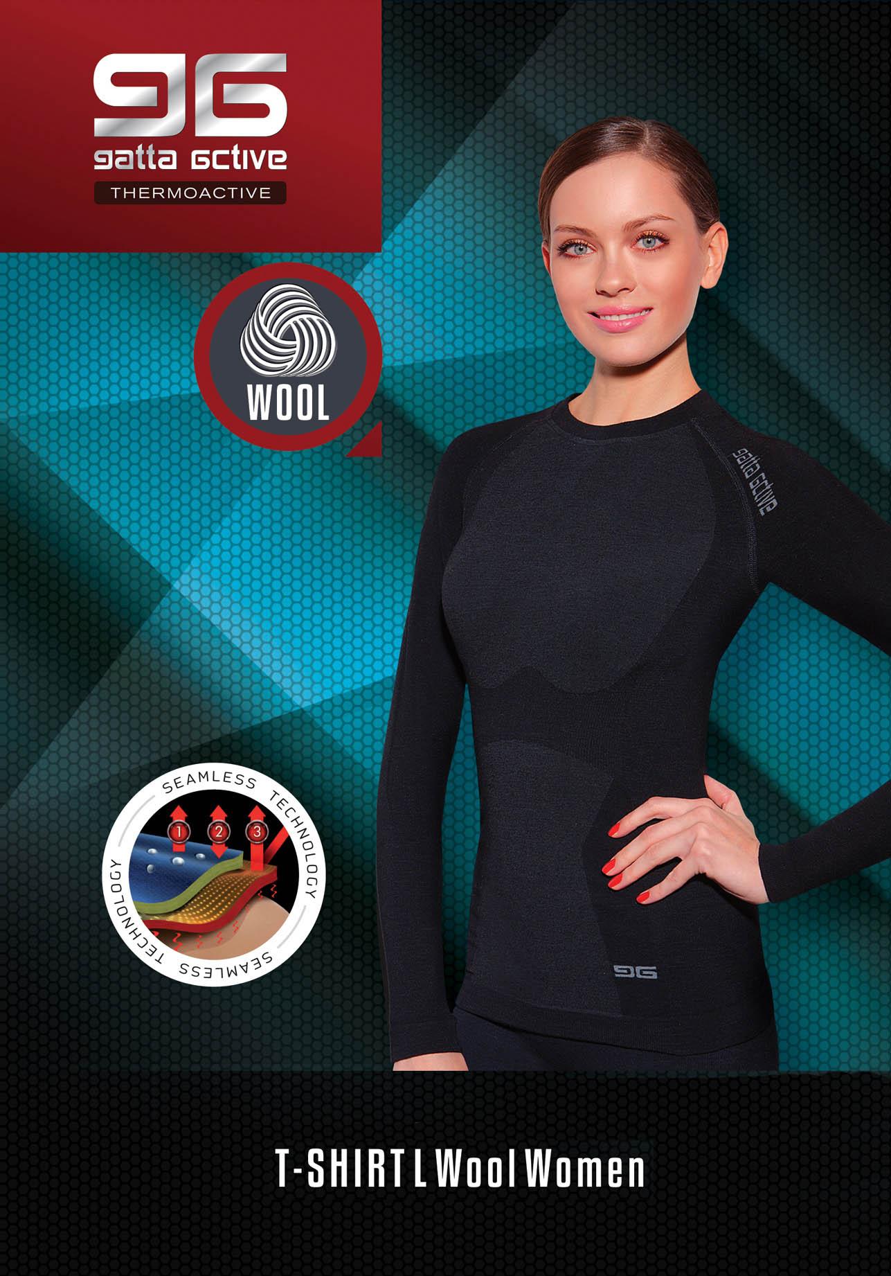 GAT T-Shirt L Wool Women