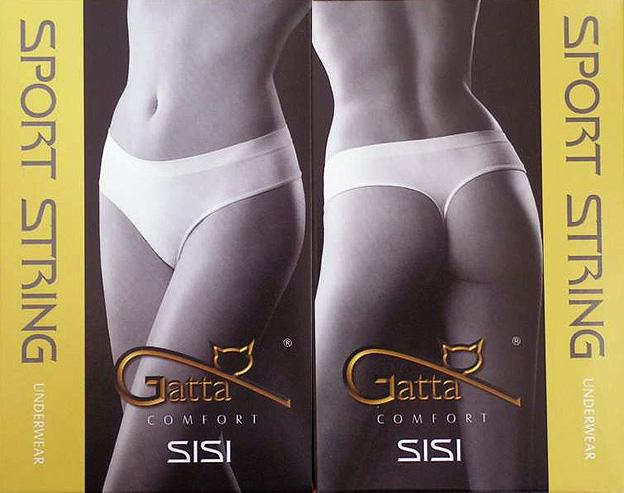 Gatta Sport String Sisi - Underwear Seamless String Tanga - 3er Pack bequeme Unterhöschen Unterwäsch